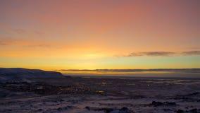 Nascer do sol em Islândia Foto de Stock Royalty Free