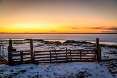 Nascer do sol em Islândia do sul Imagem de Stock