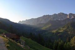 Nascer do sol em Kaisertal foto de stock royalty free