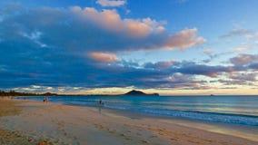 Nascer do sol em Kalama - Kailua, Hawai'i Imagens de Stock