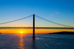 Nascer do sol em Lisboa Fotografia de Stock Royalty Free