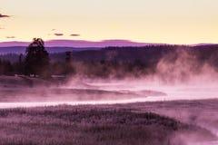 Nascer do sol em Madison River Fotografia de Stock Royalty Free