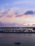 Nascer do sol em Miami, Florida Fotos de Stock Royalty Free