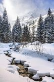 Nascer do sol em montanhas de Tatra foto de stock royalty free