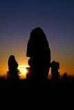 Nascer do sol em monte quebrado Fotos de Stock Royalty Free