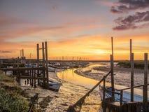 Nascer do sol em Morston Norfolk Foto de Stock Royalty Free