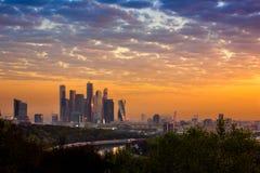 Nascer do sol em Moscovo Fotos de Stock Royalty Free