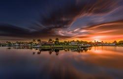 Nascer do sol em Nápoles, Florida Imagem de Stock Royalty Free