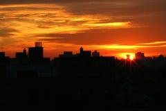Nascer do sol em New York foto de stock