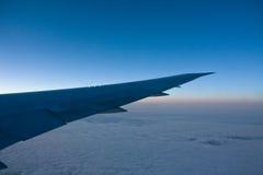 Nascer do sol em 33.000 pés Fotografia de Stock Royalty Free