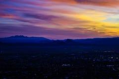 Nascer do sol em Phoenix, o Arizona imagem de stock