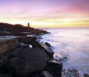 Nascer do sol em portland em Dorset Foto de Stock Royalty Free