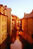 Nascer do sol em Praga Fotos de Stock Royalty Free