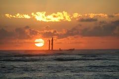 Nascer do sol em Punta Cana fotos de stock