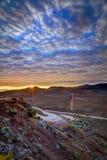 Nascer do sol em Sables do DES de Plaine Fotografia de Stock