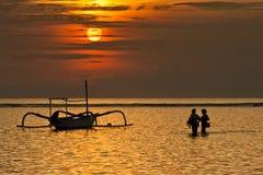 Nascer do sol em Sanur Imagem de Stock