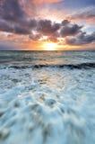 Nascer do sol em Sanur Bali Foto de Stock Royalty Free