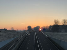 Nascer do sol em Sneek Imagem de Stock Royalty Free