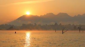 Nascer do sol em Tailândia Imagem de Stock Royalty Free