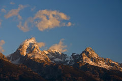 Nascer do sol em Teton grande Fotografia de Stock