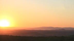 Nascer do sol em Toscânia Imagens de Stock Royalty Free