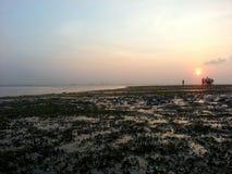 Nascer do sol em uma ilha Foto de Stock