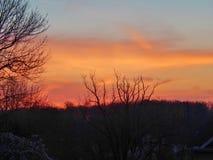 Nascer do sol em Virgínia Foto de Stock Royalty Free