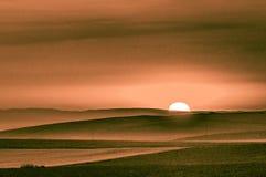 Nascer do sol em Yambol, Bulg?ria fotografia de stock