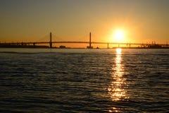 Nascer do sol em Yokohama, Japão foto de stock