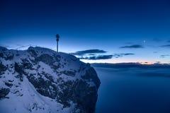 Nascer do sol em Zugspitze, Alemanha Foto de Stock Royalty Free