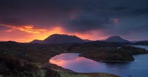 Nascer do sol escocês Fotos de Stock Royalty Free