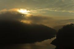 Nascer do sol escuro Foto de Stock Royalty Free