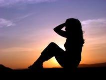Nascer do sol exercitado Imagem de Stock