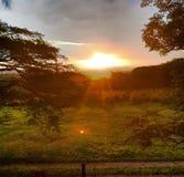 Nascer do sol extraordinário foto de stock