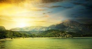 Nascer do sol fantástico foto de stock royalty free