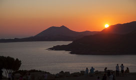 Nascer do sol fantástico no mar Fotos de Stock Royalty Free