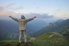 Nascer do sol fresco na montanha Imagens de Stock