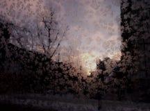 Nascer do sol gelado imagens de stock