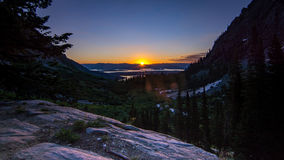 Nascer do sol grande da garganta do pincel do parque nacional de Teton Fotos de Stock