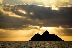 Nascer do sol havaiano imagem de stock