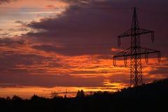 Nascer do sol impetuoso fantástico Transmissão de energia imagem de stock
