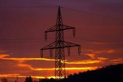 Nascer do sol impetuoso fantástico Transmissão de energia fotos de stock royalty free