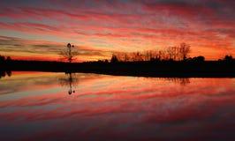 Nascer do sol impressionante em Austrália rural Imagens de Stock