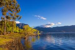 Nascer do sol do lago Daluoshui Lugu Fotos de Stock