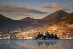 Nascer do sol do lago Iseo Fotos de Stock Royalty Free