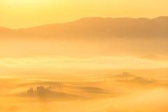 Nascer do sol leitoso Fotografia de Stock