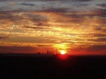 Nascer do sol lindo de Toronto mim Imagem de Stock
