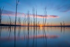 Nascer do sol longo da exposição do reservatório de Manasquan Foto de Stock