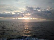 Nascer do sol Maracaibo& x27; s Lke Fotografia de Stock Royalty Free