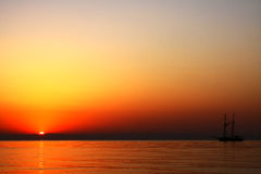 Nascer do sol mediterrâneo Fotos de Stock Royalty Free
